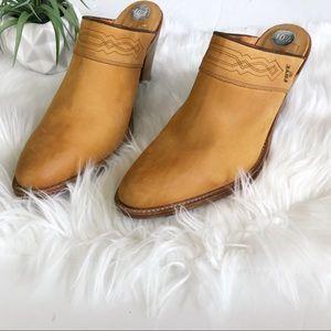 FRYE Mule Heel Booties